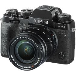 Fujifilm X-T2 + 18-55 f/2.8-4 R LM OIS Kit Mirrorless Digital Camera Body + lens Fuji digitalni fotoaparat i objektiv 18-55mm