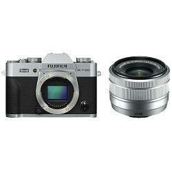 Fujifilm X-T20 + XC 15-45 f/3.5-5.6 OIS PZ KIT Silver srebreni digitalni mirrorless fotoaparat s objektivom 15-45mm Fuji (16584577)