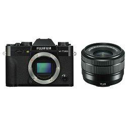 Fujifilm X-T20 + XC 15-45 f/3.5-5.6 OIS PZ KIT Black crni digitalni mirrorless fotoaparat s objektivom 15-45mm Fuji (16584694)