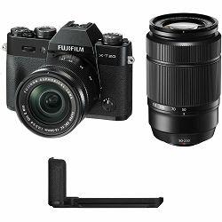 Fujifilm X-T20 + XC 16-50 + 50-230 Black crni digitalni mirrorless fotoaparat s objektivom 16-55mm f3.5-5.6 OIS II Fuji