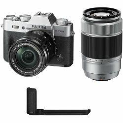 Fujifilm X-T20 + XC 16-50 + 50-230 Silver srebreni digitalni mirrorless fotoaparat s objektivom 16-50mm f3.5-5.6 OIS II Fuji