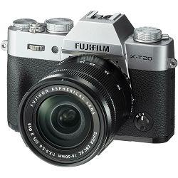 Fujifilm X-T20 + XC 16-50 f3.5-5.6 OIS II Silver srebreni digitalni mirrorless fotoaparat s objektivom 16-50mm Fuji