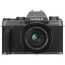 Fujifilm X-T200 + XC 15-45mm f/3.5-5.6 OIS PZ Dark Silver KIT Tamno sivi Fuji digitalni mirrorless fotoaparat s objektivom (16645955)