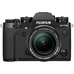 Fujifilm X-T3 + 18-55 KIT Black crni digitalni mirrorless fotoaparat s objektivom XF 18-55mm f/2.8-4 R LM OIS Fuji Finepix XT3