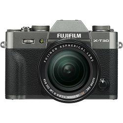 Fujifilm X-T30 + XF 18-55 f2.8-4 R LM OIS Charcoal Gray sivi digitalni mirrorless fotoaparat s objektivom 18-55mm Fuji (16620125)