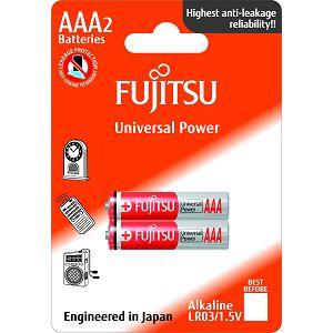 Fujitsu 2x LR03 alkalne baterije LR03(2B)FU alkaline batteries Universal Power Series blister