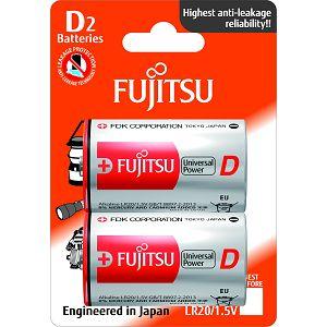 Fujitsu 2x LR20 alkalne baterije LR20(2B)FU alkaline batteries Universal Power Series blister
