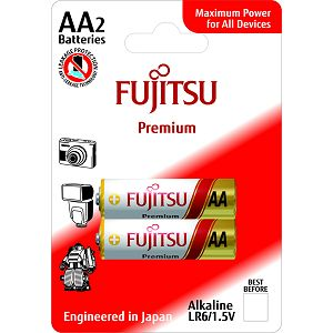 Fujitsu 2x LR6 alkalne baterije LR6(2B)FP alkaline batteries Premium Series