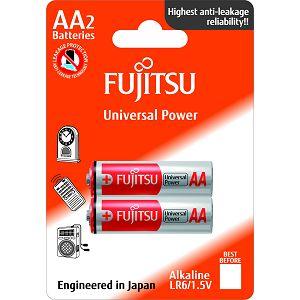 Fujitsu 2x LR6 alkalne baterije LR6(2B)FU alkaline batteries Universal Power Series blister