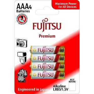 Fujitsu 4x LR03 alkalne baterije LR03(4B)FP alkaline batteries Premium Series