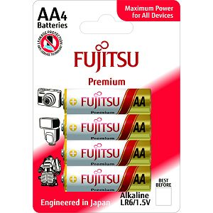 Fujitsu 4x LR6 alkalne baterije LR6(4B)FP alkaline batteries Premium Series