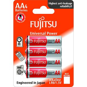 Fujitsu 4x LR6 alkalne baterije LR6(4B)FU alkaline batteries Universal Power Series blister
