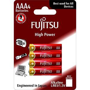 Fujitsu 4x LT03 alkalne baterije LT03(4B)FH alkaline batteriesHigh Power Series