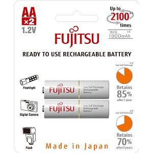 Fujitsu baterije White 2xAA 1900mAh HR-3UTCEX (2B)