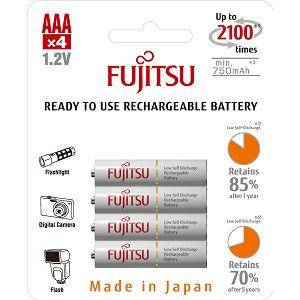 Fujitsu baterije White 4xAAA 750mAh HR-4UTCEX (4B)