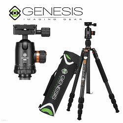 Genesis Base C1 BH-34 KIT Orange narančasti komplet Carbon Fiber Tripod karbonski stativ 170,8cm + kuglasta glava ball head 15kg