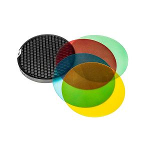 Quadralite Reporter Color Filters and Honeycomb Grid