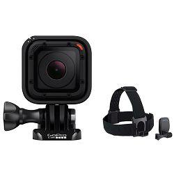 GoPro HERO Session FullHD CHDHS-102-EU vodootporna sportska akcijska kamera + Head Strap Mount + QuickClip ACHOM-001
