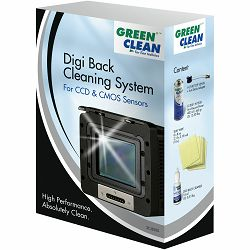 Green Clean Digi Back Cleaning System komplet za čišćenje CCD i CMOS senzora 1x HiTech 400ml + 1x Top Ventil + 10x Silky Wipe 8x8cm + 1x Digital Capture Back Cleaning Liquid 15ml (SC-8000)