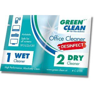 Green Clean Office Cleaner pre sauked wipes DESINFECT C-2100 Wet & Dry mokro-suhe maramice za dezinfekciju