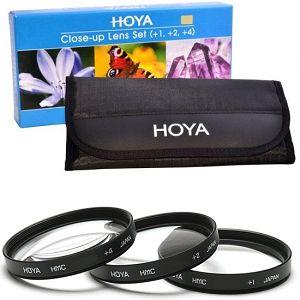 Hoya Close Up +1 +2 +4 macro komplet 62mm + torbica za filtere