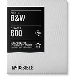 Impossible Black & White 2.0 Instant Film for Polaroid 600 Cameras (White Frame, 8 Exposures) 600 B/W Gen 2.0 (3834)