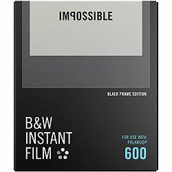 Impossible B&W Film for Polaroid 600 Black Frame (Films work with 600 Cameras & I-type Cameras) (4517)