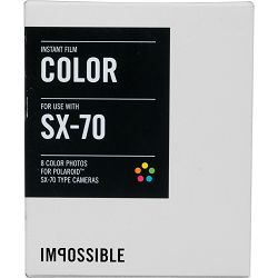 Impossible Color Instant Film for Polaroid SX-70 Cameras (White Frame, 8 Exposures) SX 70 Color (2783)