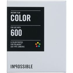 Impossible Color Instant Film for Polaroid 600 Cameras (White Frame, 8 Exposures) 600 Color (2785)