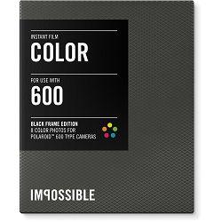 Impossible Color Instant Film for Polaroid 600 Cameras (Black Frame, 8 Exposures) 600 Color Black Frame (3553)