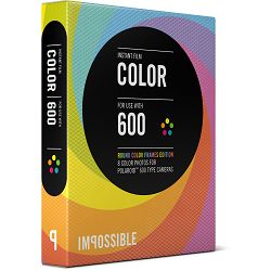 Impossible Color Instant Film for Polaroid 600 Cameras (Color Edition Round Frame, 8 Exposures) 600 Color Round Multicolor Frame (4154)