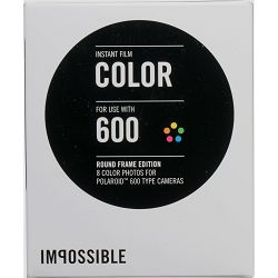 Impossible Color Instant Film for Polaroid 600 Cameras (White Round Frame, 8 Exposures) 600 Color Round Frame (4157)