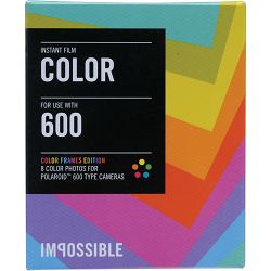 Impossible Instant Color Film with Color Frames for Polaroid 600-Type Cameras 600 Color Multicolor Frame (2959)