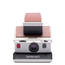 Impossible Polaroid™ SX 70 Model2 (White/Brown leather) Instant fotoaparat Refurbished camera (1506)