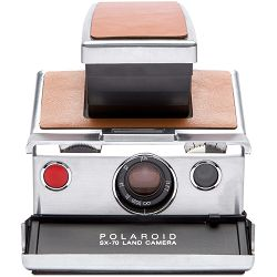 Impossible Polaroid™ SX 70 Original (Chrome/Brown leather) Instant fotoaparat Refurbished camera (1503)