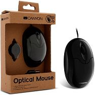 Input Devices - Mouse CANYON CNF-MSO01 Green series (,Cable, Optical 800dpi,3 btn,USB), Black