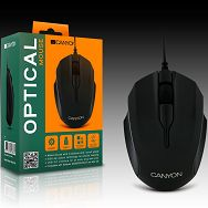 Input Devices - Mouse CANYON CNR-FMSO01 (,Cable, Optical 1000dpi,3 btn,USB 2.0), Varnish Black