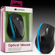 Input Devices - Mouse CANYON CNR-MSO01N (,Cable, Optical 800dpi,3 btn,USB), Black/Blue