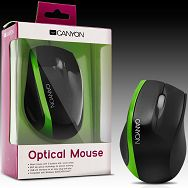 Input Devices - Mouse CANYON CNR-MSO01N (,Cable, Optical 800dpi,3 btn,USB), Black/Green