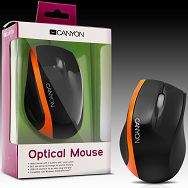 Input Devices - Mouse CANYON CNR-MSO01N (,Cable, Optical 800dpi,3 btn,USB), Black/Orange
