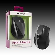 Input Devices - Mouse CANYON CNR-MSO01N (,Cable, Optical 800dpi,3 btn,USB), Black/Silver