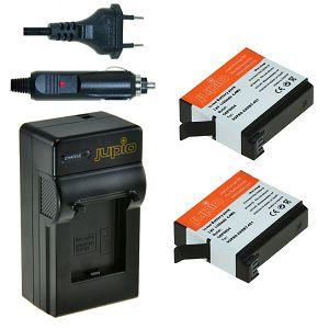 Jupio 2x AHDBT-401 + Charger za GoPro baterija CGP0015 1160mAh