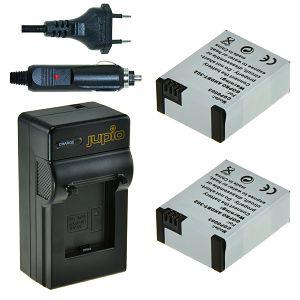 Jupio 2x Battery AHDBT-302 + Charger za GoPro HERO3+ baterija CGP0010 1200mAh