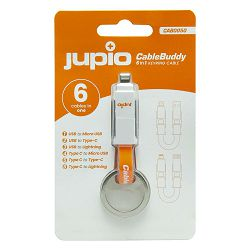 Jupio CableBuddy 6-in-1 Keyring Cable adapter USB Type-A to Micro-USB, Type-A to Type-C, Type-A to Lightning, Type-C to Micro-USB, Type-C to Type-C, Type-C to Lightning (CAB0050)
