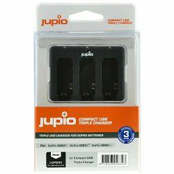 Jupio Compact USB Triple Charger for GoPro Hero 3/3+/4 batteries 3-struki punjač za baterije (LGP0001)
