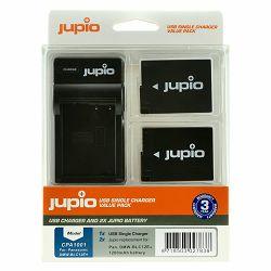 Jupio KIT 2x Battery DMW-BLC12E + USB Single Charger komplet punjač i dvije baterije za Panasonic Lumix DMC FZ200 FZ1000 GH2 G5 G6 Leica V-Lux 4 CPA1001