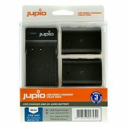 Jupio KIT 2x Battery DMW-BLF19E 1860mAh + USB Single Charger komplet punjač i dvije baterije za Panasonic Lumix DMC-GH5S, DMC-GH5, DMC-GH4, DMC-GH3, DC-G9, GH5S, GH5, GH4, GH3, G9 (CPA1002)
