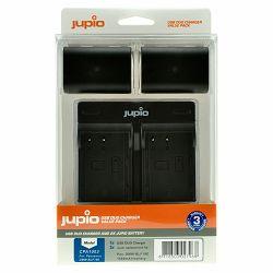 Jupio KIT 2x Battery DMW-BLF19E 1860mAh + USB Dual Charger komplet punjač i dvije baterije za Panasonic Lumix DMC-GH5S, DMC-GH5, DMC-GH4, DMC-GH3, DC-G9, GH5S, GH5, GH4, GH3, G9 (CPA1003)