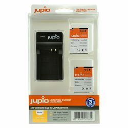 Jupio KIT 2x Battery EN-EL12 + USB Single Charger komplet punjač i dvije baterije za Nikon Coolpix AW110, AW130, P340, S31, S710, S7000 S9700, S9900 CNI1000