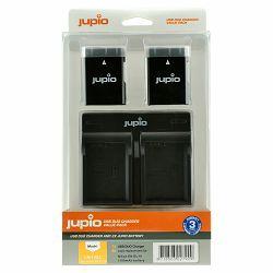 Jupio KIT 2x Battery EN-EL14A 1100mAh + USB Dual Charger komplet punjač i dvije baterije za Nikon D5600, D5500, D5300, D5200, D3400, D3300, D3200, Coolpix P7800